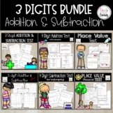 3 digit Addition and Subtraction Assessments⭐️
