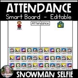 Attendance Smart Board Snowmen Selfies
