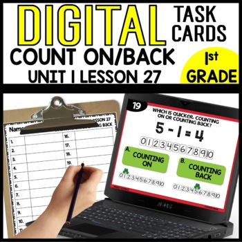 COUNTING ON/BACK DIGITAL TASK CARDS Module 1 Lesson 27