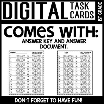 DOUBLES DIGITAL TASK CARDS Module 1 Lesson 24