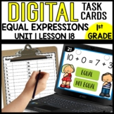 Equal Expressions DIGITAL TASK CARDS Module 1 Lesson 18
