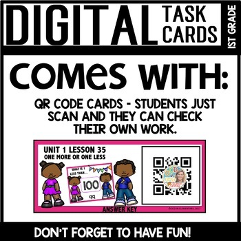 One Less/One more DIGITAL TASK CARDS Module 1 Lesson 35