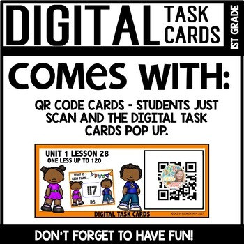 One Less up to 120 DIGITAL TASK CARDS Module 1 Lesson 28