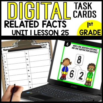 RELATED FACTS DIGITAL TASK CARDS Module 1 Lesson 25