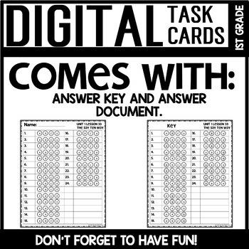 Rekenrek Practice DIGITAL TASK CARDS Module 1 Lesson 33