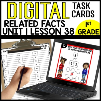 Related Number Sent DIGITAL TASK CARDS Module 1 Lesson 38