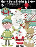 North Pole: Bright & Shiny Christmas Clipart ~ FREE Papers