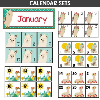 Llama Theme Classroom EDITABLE Decor Bundle