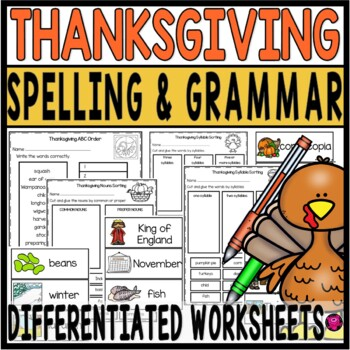 Thanksgiving Activities for 3rd and 4th Grade