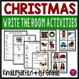 December Write the Room Christmas Activities for Kindergarten and First Grade