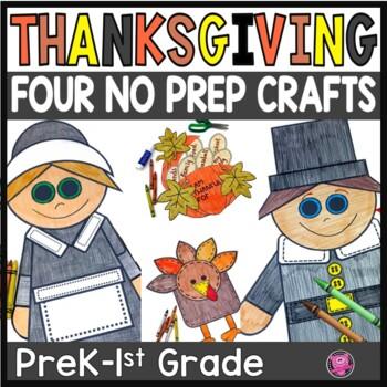 Thanksgiving Crafts Prek Kindergarten 1st Grad Print And Go