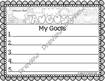 Monthly Goal Setting and Reflection Sheets