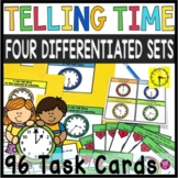 Telling Time Task Cards: Differentiated