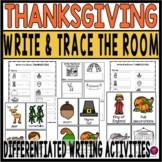 Thanksgiving Writing for Kindergarten and First Grade