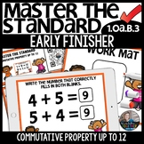 Commutative Property up to 12 EARLY FINISHER Activity
