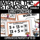 Commutative Property up to 20 EARLY FINISHER