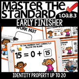 Identity Property up to 20 1.OA.B.3 EARLY FINISHER Activity