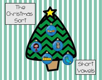 Christmas Short Vowel Sort