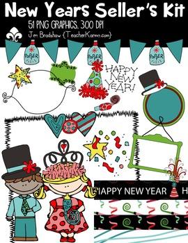 New Years Seller's Christmas Kit ~ Commercial Use OK