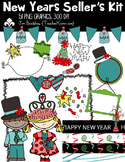 New Years Clipart, Seller's Kit