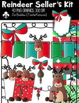 Reindeer Seller's Christmas Kit ~ Commercial Use OK ~ Rudolph