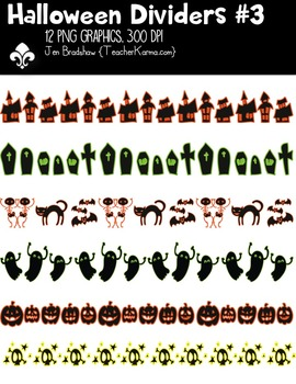 Halloween Dividers #3 ** FREEBIE ** Clipart ~ Commercial Use OK