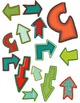 Arrow Seller's Set Clipart ~ Commercial Use OK ~ Papers