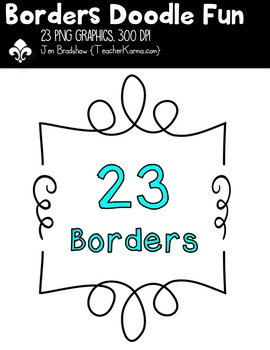 Borders: DOODLE FUN Clipart ~ Commercial Use OK