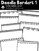 Doodle Borders #1 Clipart ~ Commercial Use OK ~ Frames