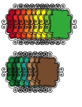 Frames: CURLY STYLE Clipart ~ Commercial Use OK ~ FREE