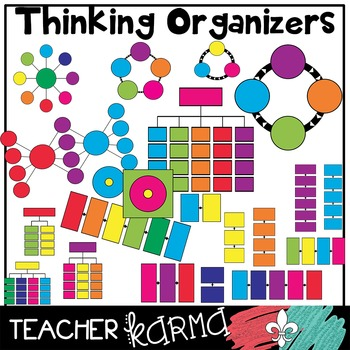 Graphic Organizers Clipart * 142 Piece BUNDLE * Thinking