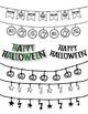 Halloween Buntings Clipart ~ Commercial Use OK ~ Autumn