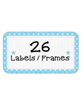 Labels: Blue & Green Frames Clipart ~ Commercial Use OK