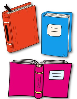 Lots of Books Clipart ~ Commercial Use OK ~ Reading