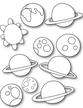 Planets Space Clipart ~ Commercial Use OK