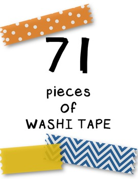 Washi Tape Kit Clipart ~ Commercial Use OK ~ Borders
