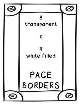 Borders: Big DOODLES Clipart ~ Commercial Use OK