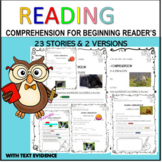 READING PASSAGES 2 VERSIONS FOR BEGINNERS PDF&DIGITAL WITH