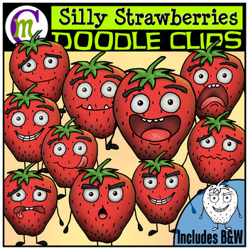 Strawberry Faces Clipart