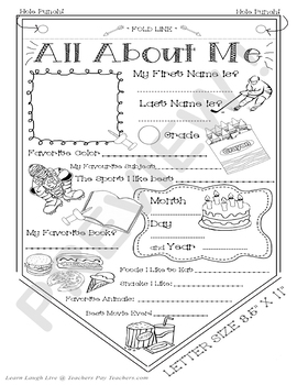 "#1 All About Me Pennant - Coloring Activity for Students! 8.5"" X 11"" PRINTABLE!"