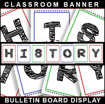 #1 Back-To-School! HISTORY Bulletin Board Display 4 Classroom Signage!