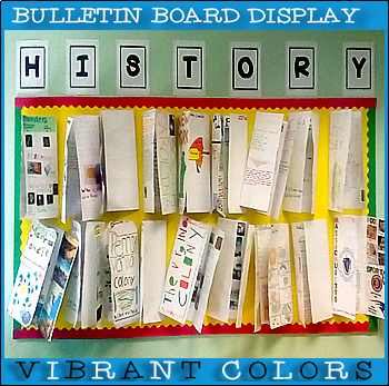 #1 Back-To-School! HISTORY POSTER Bulletin Board Display for Classroom Signage!