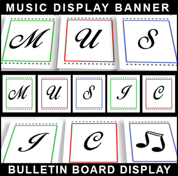 #1 Back-To-School! MUSIC POSTER Bulletin Board Display for Classroom Signage!