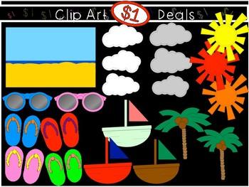 $1 Build-a-Beach Summer Scene Dollar Deal