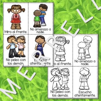 #1 CARTELES y TARJETAS Las Reglas de la Clase en ESPAÑOL Gr. 1-3
