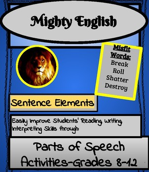 #1 Chunk, Don't Plunk, Sentence Elements: High School Acti