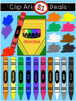 $1 Crayon Clip Art Dollar Deal-2