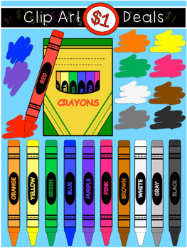 $1 Crayon Clip Art Dollar Deal-2