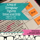 Area of Composite Figures Solve and Snip® Interactive Word
