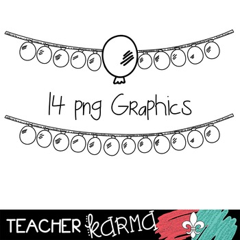 {$1 DEAL} Balloon Buntings  Clipart ~ Banners ~ Party ~ Commercial Use OK